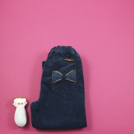 pantalon en velours marine 18 mois