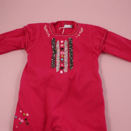 Pyjama fushia 12 mois