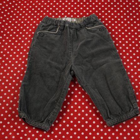 pantalon velours greige 6 mois
