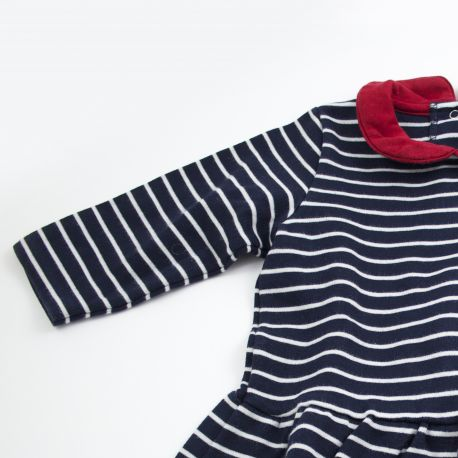 Robe marinière 12 mois Petit bateau