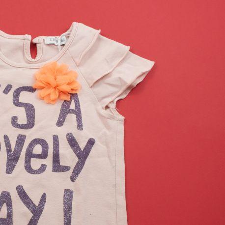 Tee-shirt avec fleur fluo 18 mois IKKS