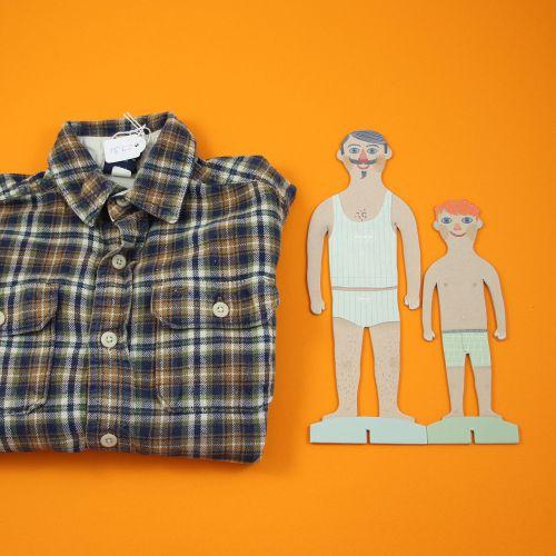 Chemise à carreaux 2 ans