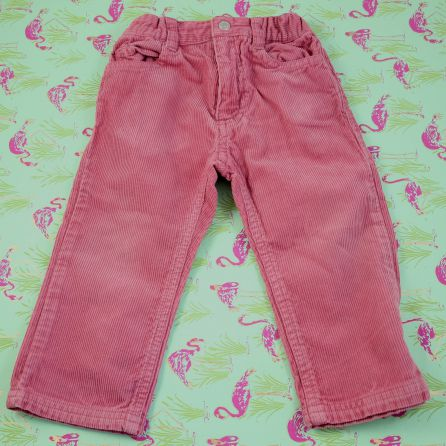 Pantalon en velours rose 18 mois