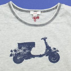 Tes-shirt gris scooter 4 ans Zef