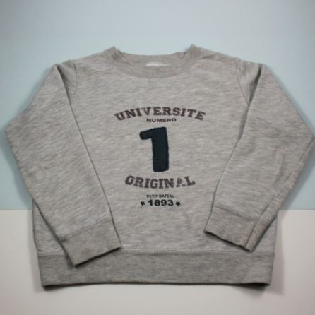 Sweat gris 6 ans