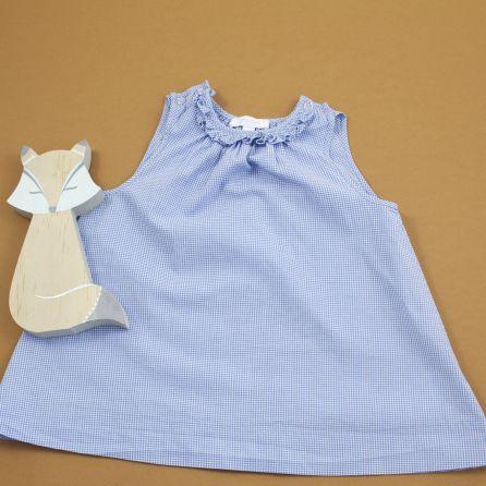 Robe vichy bleu 3 mois
