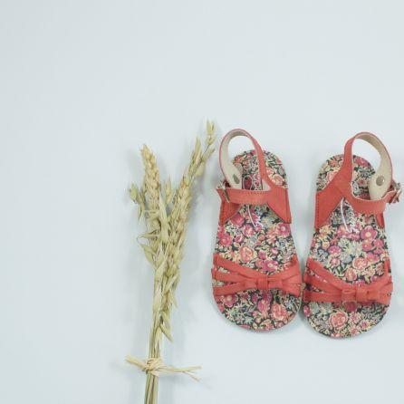 Sandalettes corail et Liberty 19