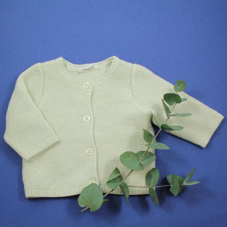 cardigan coton bio 3/6 mois