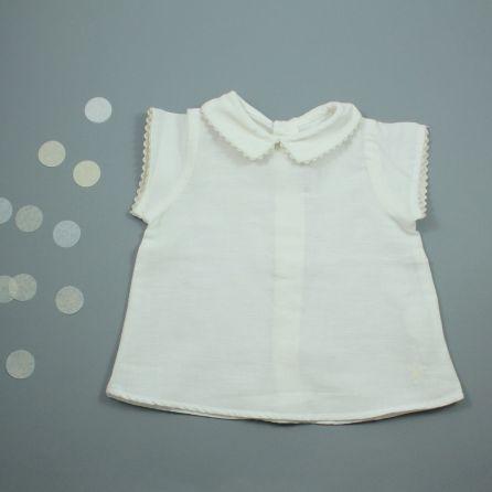 blouse écrue 3 mois