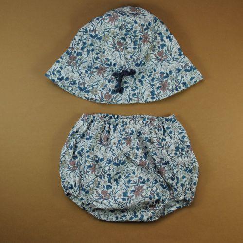 Bloomer et chapeau Liberty 12 mois