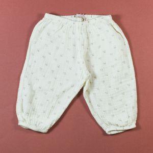 pantalon fleuri 12 mois