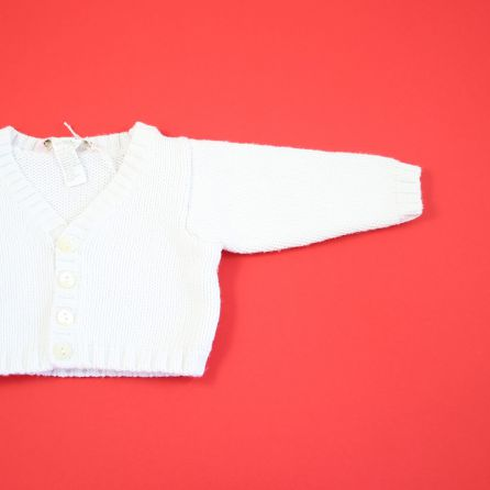 Gilet blanc 3 mois