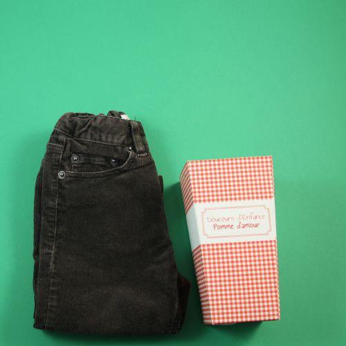 Jeans en velours 12mois