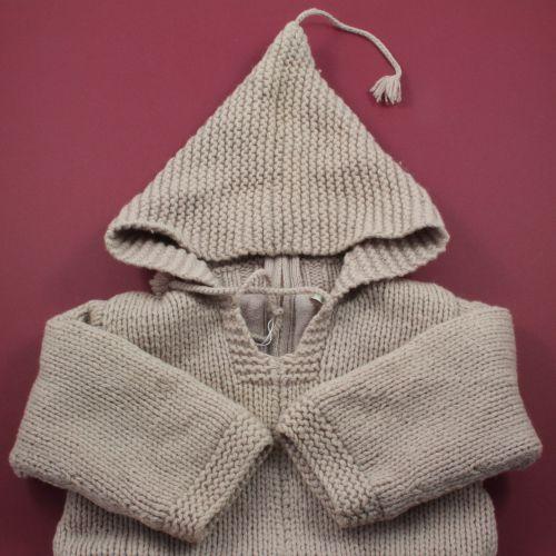 Burnou en laine 12 mois