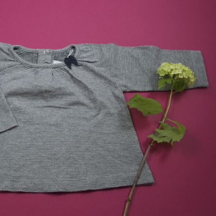 Tee-shirt gris 6 mois