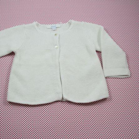 Gilet blanc 6 mois