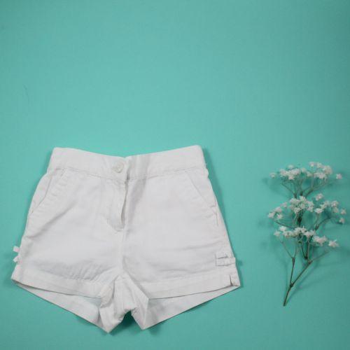 Short blanc 6/12 mois