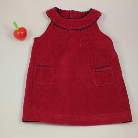 robe en velours 6 mois