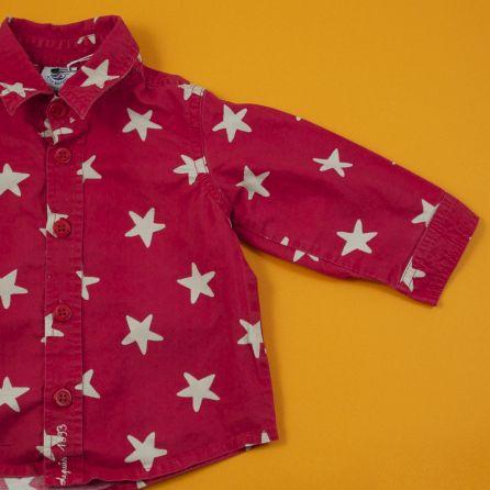 Chemise rouge à étoiles 6 mois