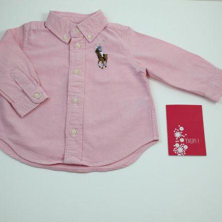 chemise rose 9 mois