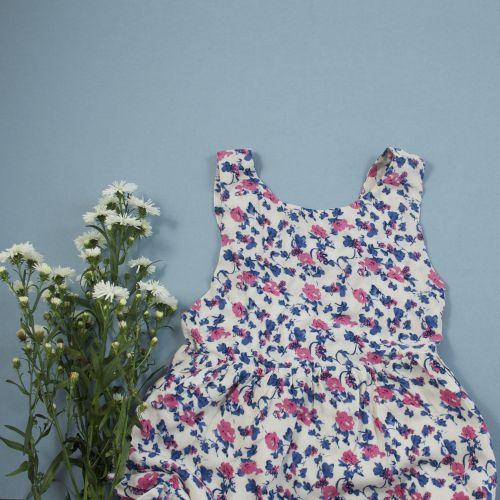 Robe d'été à fleurs 2 ans