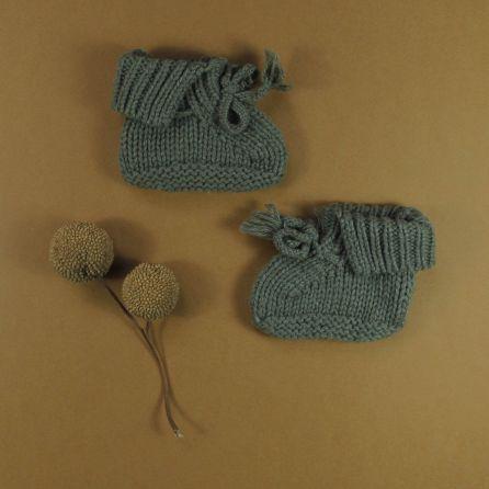 chaussons tricotés 1er âge